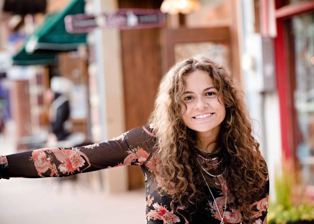 girl brown curly hair